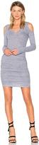 Lanston Exposed Shoulder Dress in Gray
