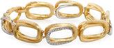 Marco Bicego Murano 18k Diamond Overlapping Link Bracelet