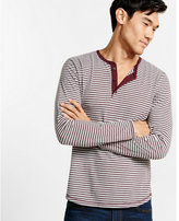 Express long sleeve striped henley