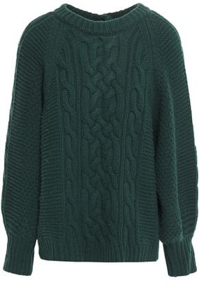 BA&SH Cable-knit Wool-blend Sweater