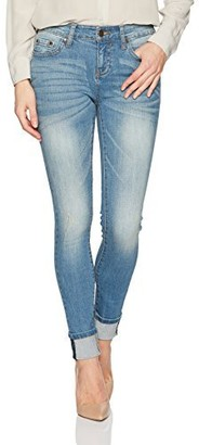 EVIDNT Women's Tate MID Rise Stretch Skinny Classic Denim Jeans