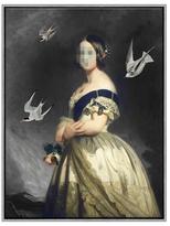 Soicher Marin Pixelated Portrait by Giclee Canvas)