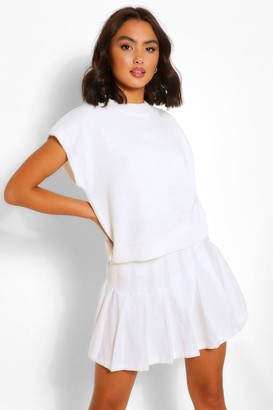 boohoo High Neck Knitted Top
