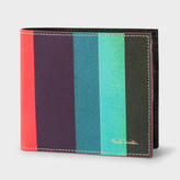 Paul Smith Men's Leather 'Artist Stripe' Billfold And Coin Wallet