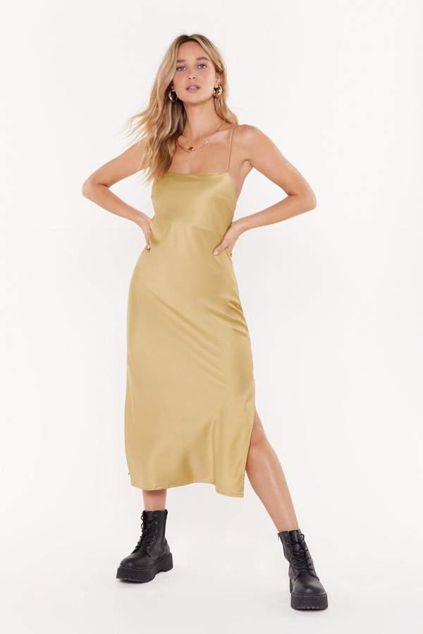 cb8c71f1941b0 Gold Slip Dress - ShopStyle