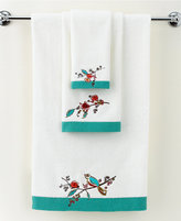 "Lenox Simply Fine Bath Towels, Chirp Embroidered 11"" x 18"" Fingertip Towel"