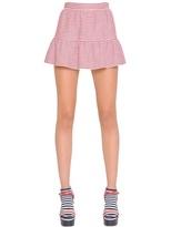 RED Valentino Striped Cotton Blend Piqué Skirt