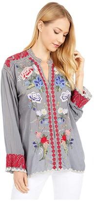 Johnny Was Maude Blouse (Cloudburst) Women's Clothing