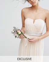 TFNC Wedding Embellished Tonal Delicate Sash Belt