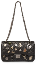 Chanel Vintage Limited Edition Black Quilted Calfskin Lucky Charms 2.55 Reissue Flap Small