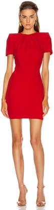 Alexander McQueen Mini Day Dress in Lust Red   FWRD