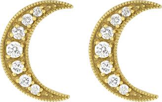 Andrea Fohrman Crescent Moon Diamond Studs