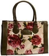 Lulu Australia Womens Roses Devonshire Top-Handle Bag Pink CRO-DEV