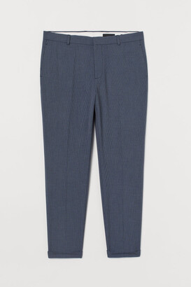 H&M Skinny Fit Suit Pants - Blue