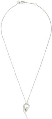 Shaun Leane silver Cherry Blossom pearl pendant necklace