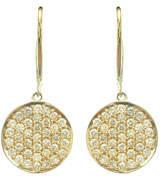 Sydney Evan 14k Diamond Pave Disc Drop Earrings