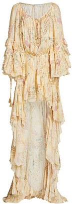 Etro Ladies Of The Road Ruffle High-Low Gown