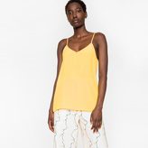 Paul Smith Women's Muted Yellow Silk-Blend Camisole Top