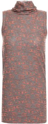 Rick Owens Lilies Metallic Jacquard-knit Turtleneck Top
