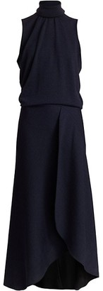 Victoria Beckham Sleeveless High-Low Midi Dress