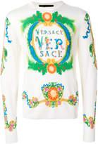 Versace logo printed sweater