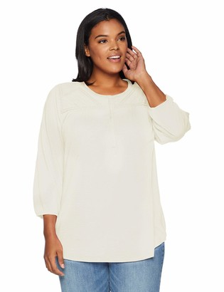 Lucky Brand Women's Plus Size Embroidered TOP