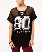 Jessica Simpson The Warm Up Lace-Up Football T-Shirt