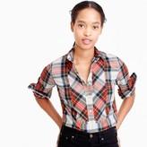 J.Crew Tall festive plaid button-up shirt