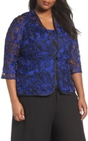 Alex Evenings Plus Size Women's Embroidered Twinset