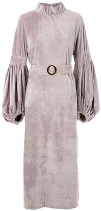 Framed Vermont velvet midi dress