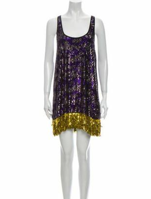 Rachel Comey Printed Mini Dress w/ Tags Purple