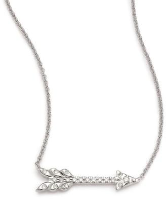 Roberto Coin Tiny Treasures Diamond & 18K White Gold Arrow Necklace