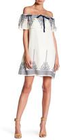 Vanity Room Embroidered Off-the-Shoulder Dress