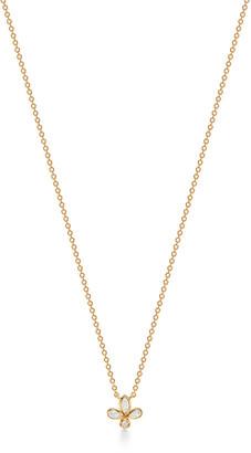 Tiffany & Co. Fleur de Lis pendant in 18k gold with diamonds, mini