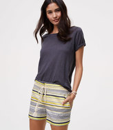 LOFT Drawstring Jacquard Riviera Shorts with 4 Inch Inseam
