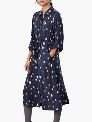 Joules Briony Long Sleeve Shirt Dress, Teasel