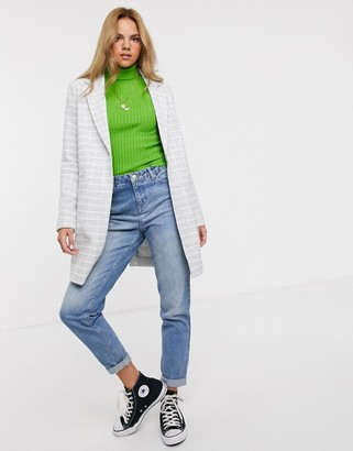 Asos DESIGN textured coat with button detail