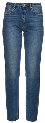 Raey Rail High-rise Straight-leg Jeans - Womens - Indigo
