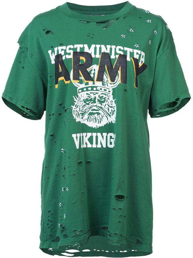 Amiri Army vintage-inspired T-shirt
