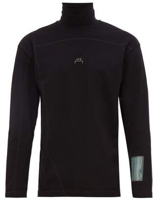A-Cold-Wall* A Cold Wall* Logo Print Roll Neck Cotton Top - Mens - Black