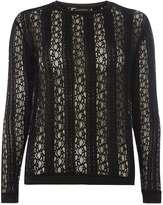 Dorothy Perkins Black lace long sleeve top
