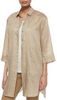 Lafayette 148 New York Melody Long Shirtdress Blouse