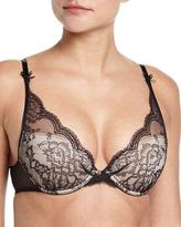 Chantelle Présage Lace Push-Up Bra, Black