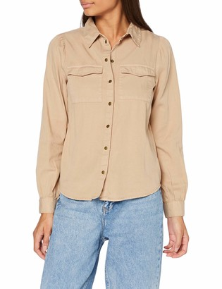 Pieces Women's PCBELLIS LS Mix Lyocell Shirt-BI BC Tank Top
