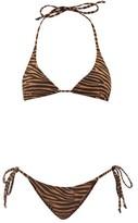 Lisa Marie Fernandez Pamela Zebra-print Crepe Bikini - Womens - Brown Print