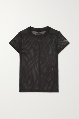 Rick Owens Champion Appliqued Mesh T-shirt - Black