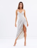 Shona Joy Cocktail Draped Maxi Dress