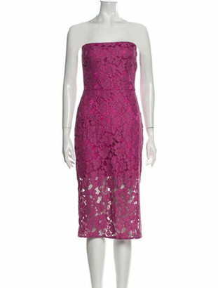 Alexis Lace Pattern Mini Dress Pink