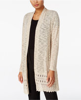 JM Collection Lace-Trim Duster Cardigan, Only at Macy's
