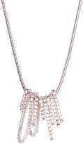 Love Rocks Crystal & Silvertone Pavé Hoop Pendant Necklace
